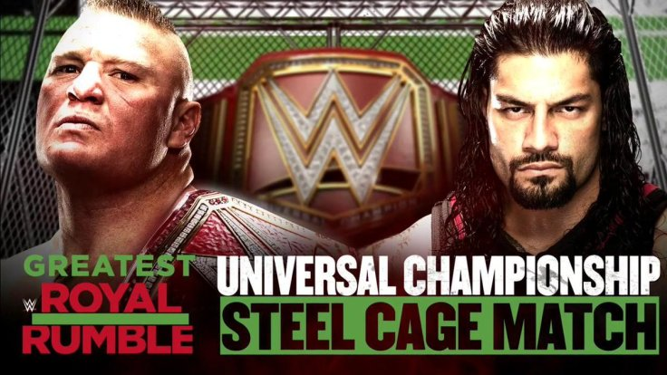 Roman-Reigns-vs.-Brock-Lesnar-WrestleMania-34-Rematch-At-Greatest-Royal-Rumble-Steel-Cage-Universal-Championship-Match